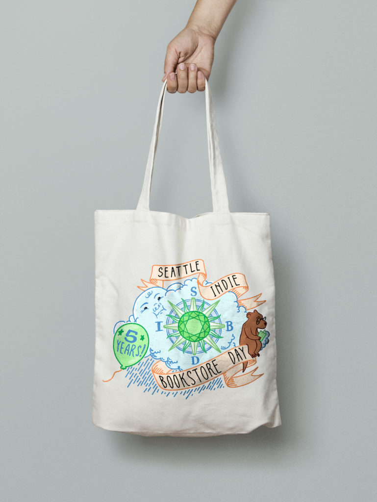 Seattle Indie Bookstore Day Tote Bag